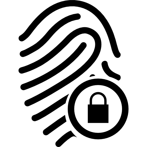 Fingerprint With Security Icons Free Download