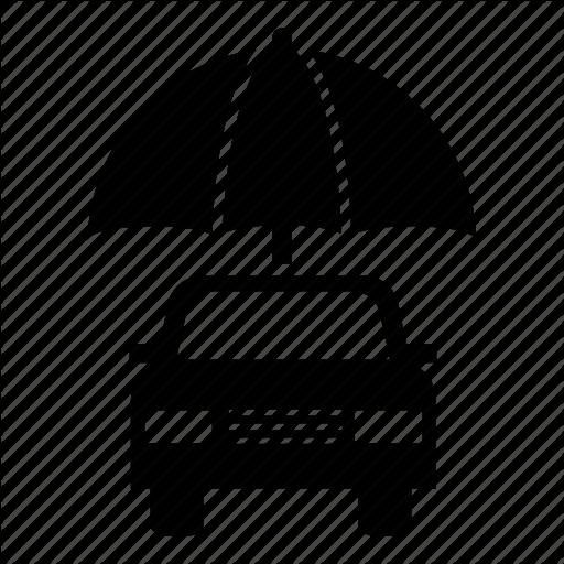 Auto Insurance, Automobile, Car, Car Insurance, Umbrella Icon