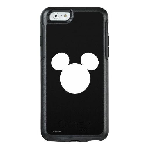 Disney Logo White Mickey Icon Otterbox Iphone Case Iphone Case