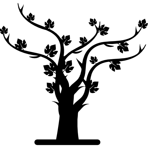 Autumn Tree Silhouette Icons Free Download