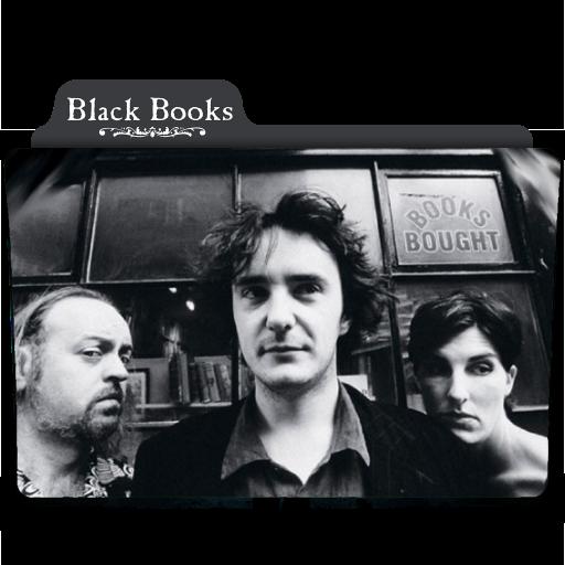 Black Books Folder Icon