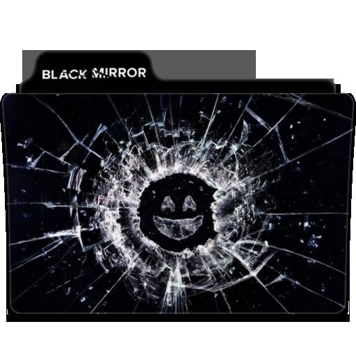 Black Mirror Folder Icon