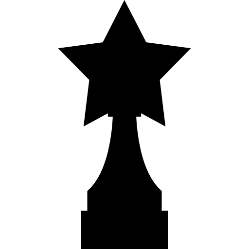 Award Trophy With Star Shape