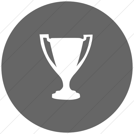Flat Circle White On Gray Classica Award Trophy Icon