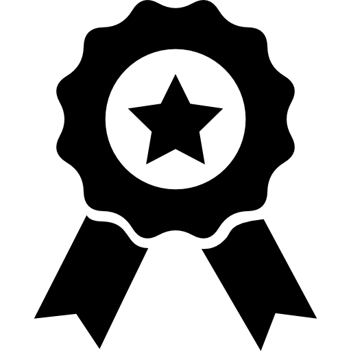Prize Badge With Star And Ribbon