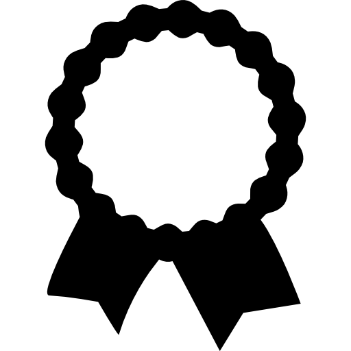 Recognition Award Label With Ribbon Tails Icons Free Download