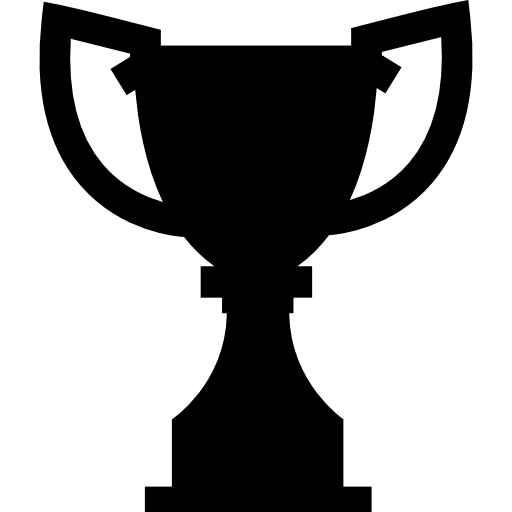 Award Trophy Silhouette Icons Free Download