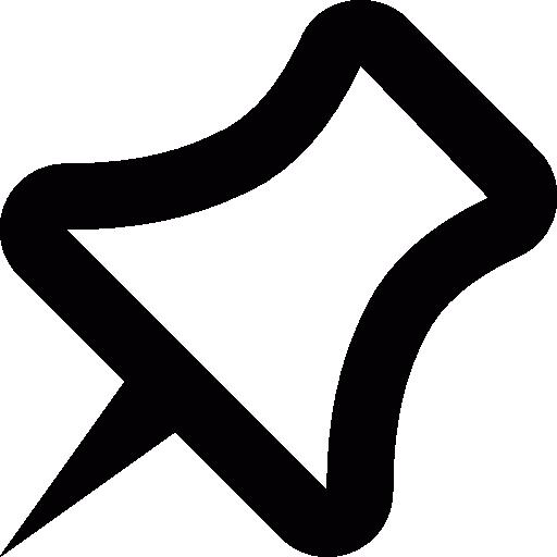Pushpin, Left, Mapmarker, Azure Icon