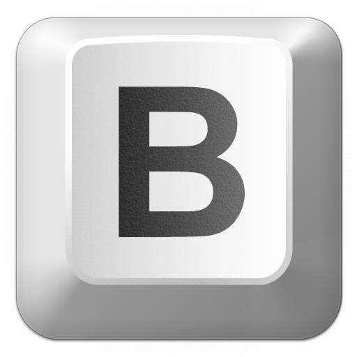 Iconexperience V Collection Keyboard Key B Icon