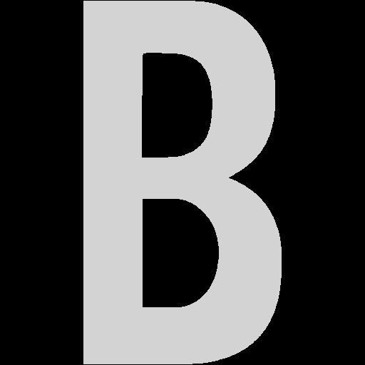 Light Gray Letter B Icon