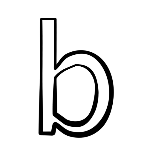 Vector Icon Letter B