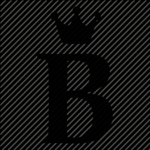 Alphabet, B, Crown, English, Letter, Royal Icon