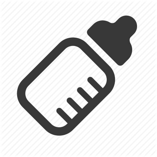 Baby, Baby Bottle, Milk Bottle, Newborn, Raw, Simple Icon