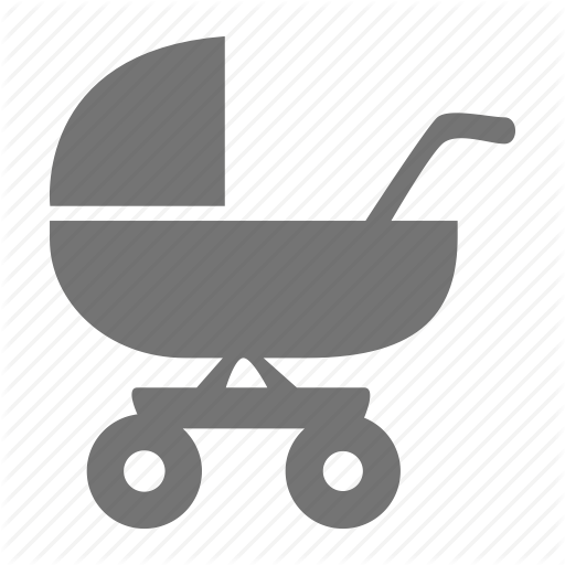 Baby, Carriage, Cart, Infant, Push Chair, Stroller, Swagon Icon