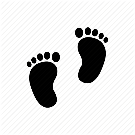 Babycare, Decoration, Feet, Foot, Pregnancy, Prints Icon