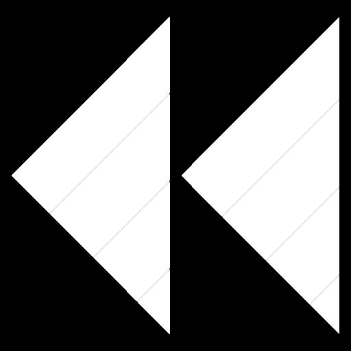 Simple White Classica Seek Back Arrow Icon