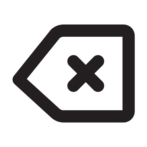Backspace, Outline Icon Free Of Eva Outline Icons