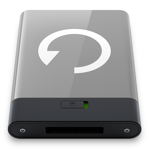 Grey Backup W Icon Hyper Realistic Hd Iconset