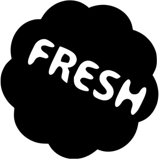 Black Fresh Badge Icon