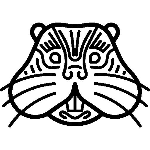 Mammal, Wildlife, Head, Tribal, Indigenous, Badger, Animals Icon