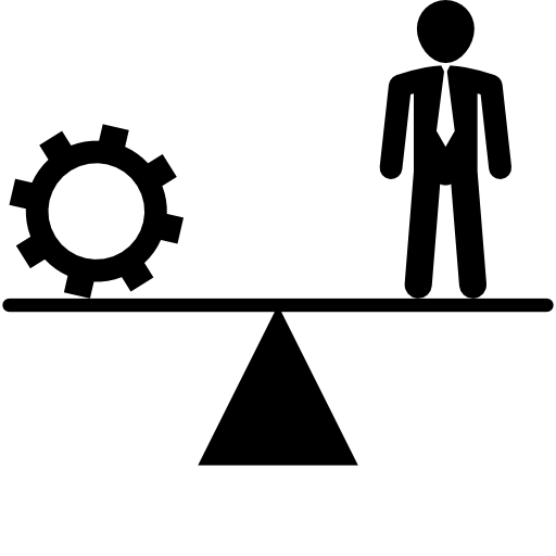 Balancing Between Cogwheel And Businessman Icons Free Download
