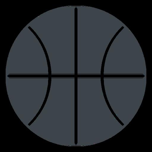 Basketball Ball Flat School Icon