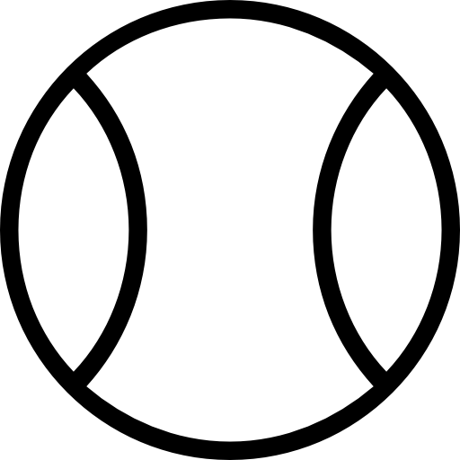 Tennis Ball Outlined Object Symbol
