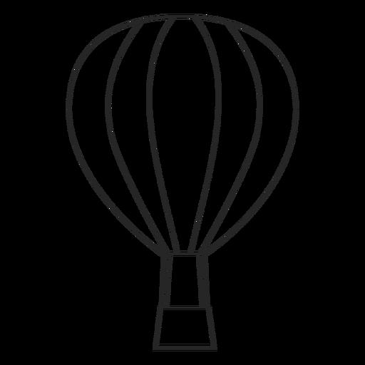 Stroke Air Balloon Icon