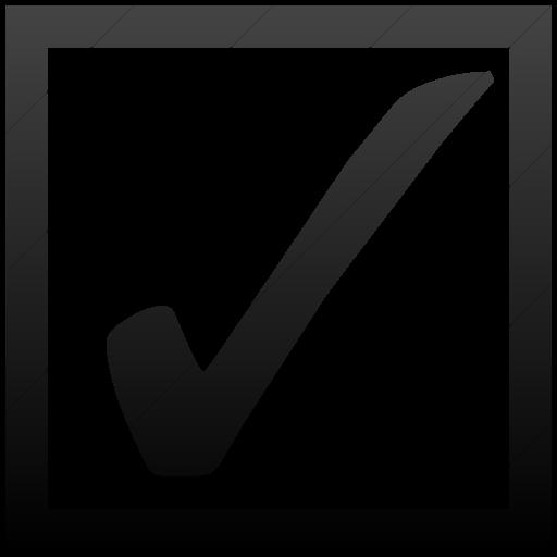 Simple Black Gradient Classica Ballot Box With Check Icon