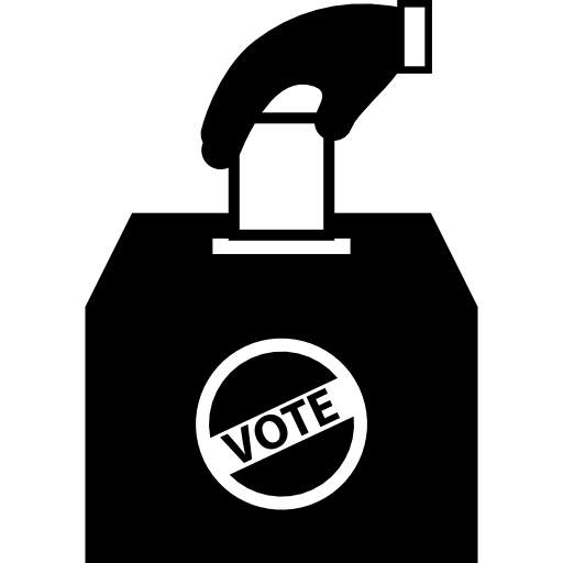Man Holding The Vote Paper On The Box