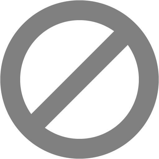 Gray Ban Icon