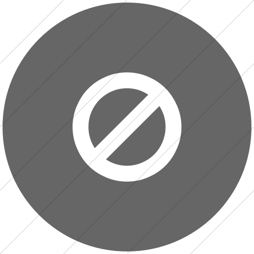 Flat Circle White On Gray Bootstrap Font Awesome Ban Icon