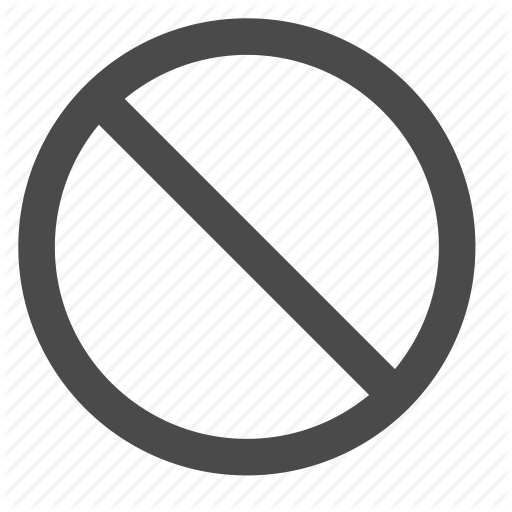 Ban, Circle, Crossed, Embargo, Prohibition, Sign Icon