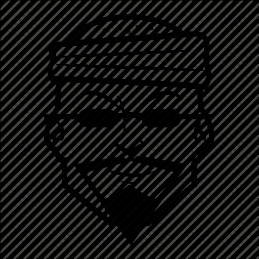 Bandana, Cartoon, Guy, Head, Mustache Icon