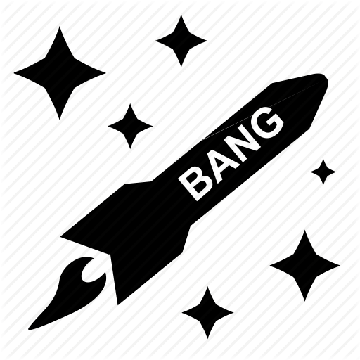 Bang, Effect, Fly, Rocket, Stars, Terrorist Icon