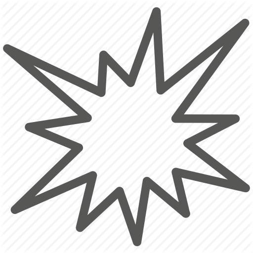 Bang, Explode, Explosion, War Icon