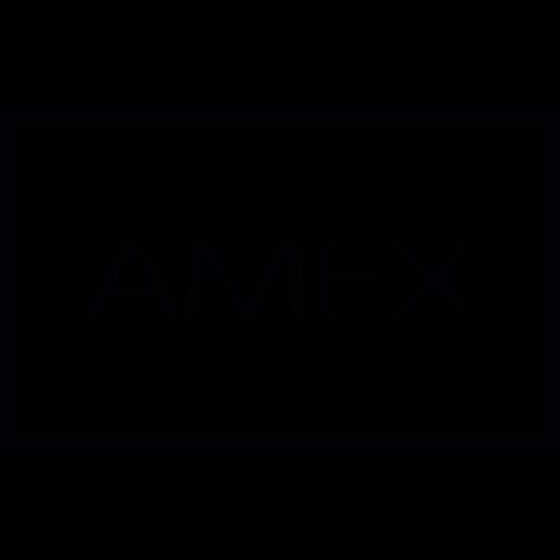 American Express, Logo, Rectangle, Logotype, Credit Card, Banking Icon