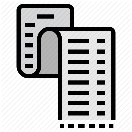 Document, Expense, File, Format, List, Page, Paper Icon
