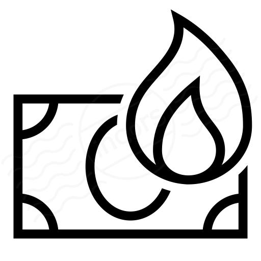 Iconexperience I Collection Money Bill Fire Icon