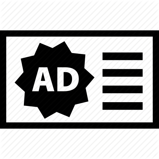 Ad, Adsense, Banner, Publicity, Web Icon