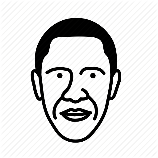 Barack Obama, Face, Man, Person, Persona, User Icon