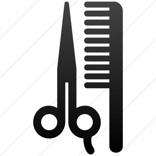 Simple Black Gradient Aiga Barber Shop Beauty Salon Icon