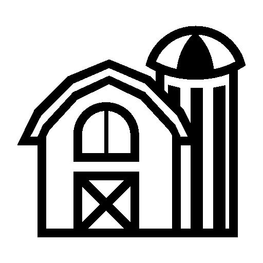 Farm Building Vector Icon