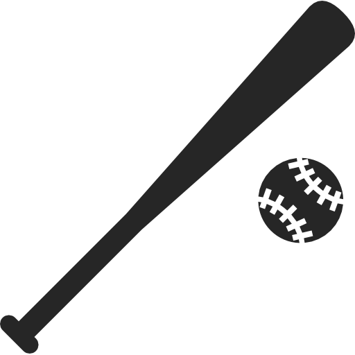 Collection Of Baseball Bat Icons Free Download