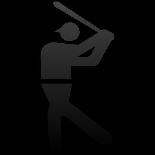 Simple Black Gradient Sports Baseball Icon