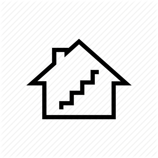 Basement, House, Hut, Staircase, Stairs, Stairway, Stories Icon