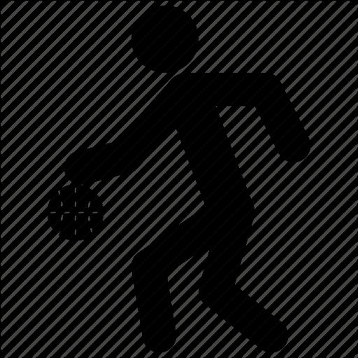 Basketball, Dribbling, Game, Man, Player, Playing, Sport Icon