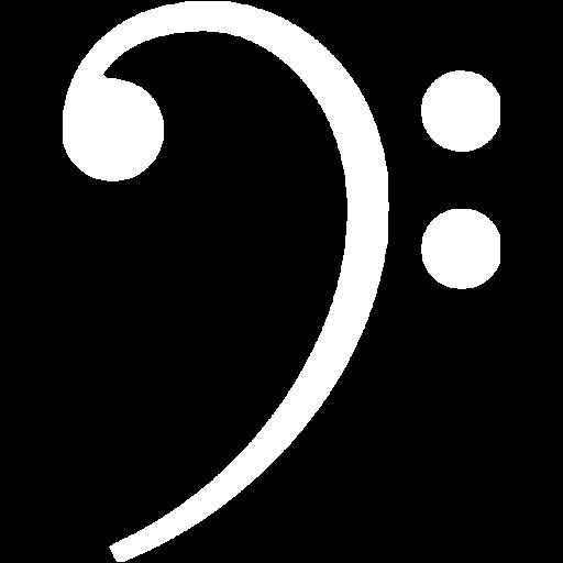 White Bass Clef Icon