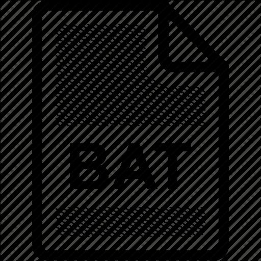 Bat, Bat File, Extension, File, Format, Format, Type Icon