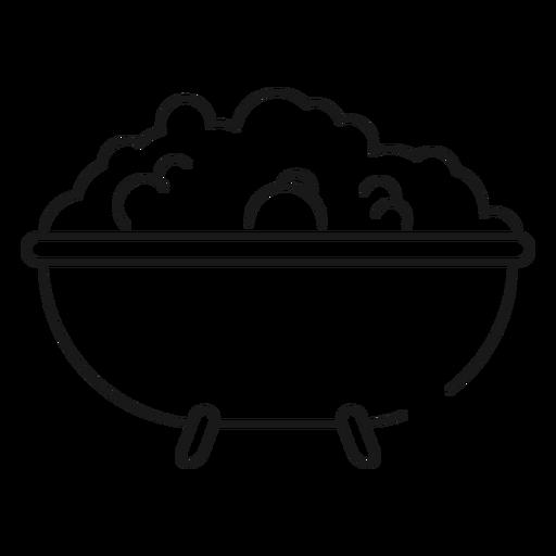 Bath Tub Stroke Icon